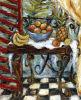 Pittura a olio Handmade sulla Tabella Tela di canapa-Tropicale
