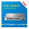 8 25.5W Poe Portsのポート10/100m 802.3at Poe FiberのインターネットSwtich (