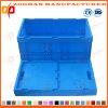 Cadre pliable de rotation de transport de légumes de récipient d'entreposage de caisse en plastique (Zhtb16)