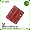 Material de Fr4 Rogers a doble cara PCB aceite rojo