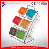 De gekleurde Plastic Reeks van de Specerij van het Glas van het Deksel