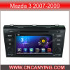 Car DVD Player for Pure Android 4.4 Car DVD Player with A9 CPU Capacitive Touch Screen GPS Bluetooth for Mazda 3 2007-2009 (AD-7638)