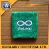 Wristband хлопка с логосом вышивки для подарка (KBND-07)