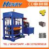 Kleiner Dieselmotor-Block des hydrostatischen Druck-Qt4-30 und Ziegeleimaschine, bunte Straßenbetoniermaschine, die Maschinerie herstellt