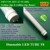 O lúmen elevado do tubo T8 9W 60cm do diodo emissor de luz de Dimmable Output C.A. 85~265V