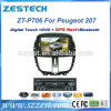 GPS van de huivering de Speler van de Auto DVD van de Navigatie voor Peugeot 207 (zt-P706)