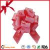Curvas impressas vermelhas da tração da fita da decoração do carro do casamento