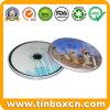 金属のCD袋のための円形のCD錫ボックスは、CD箱を錫メッキする