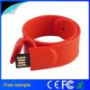 Movimentação barata maioria por atacado do flash do silicone do bracelete do USB do PVC