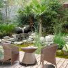 柳細工の屋外の家具のレストラン表および椅子/屋外の庭の家具Z293