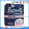 Butterfly absorventes higiênicos fêmea para a Albânia no mercado 280mm