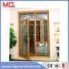Puerta de aluminio de la oficina del oscilación con la ventana de cristal