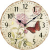 Tour moderne de 12 pouces en or rose Non-Ticking Horloge murale en plastique