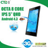 2014 Mtk6572 Cortex A7 Dual Core 1.3GHz Android 4.2 IPS 5inch Ctc M3 Mobile Phone