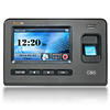 Controlo de acessos do comparecimento do tempo da impressão digital da tela de toque