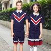Uniformes náuticos de encargo de las camisas de polo del muchacho de escuela del azul de marina de la manera