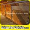 Barandilla de escalera cubierta Balcón del acero inoxidable de la mano con el vidrio