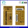 2 en 1 carnet de socio plástico combinado del PVC de la etiqueta dominante del código de barras