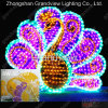 3D Acrylic Peafowl Motif LED Light voor Park Decoration