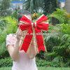 Красный лук Рождества мини-ручной работы