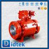 Didtek metal forjado de alta presión asentado el muñón Válvula de bola con engranaje de tornillo sinfín