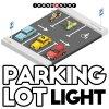 쉬운 수선 LED 주차장 전등 설비, LED 고성능 플러드 빛 240W