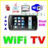 WiFi TV Movil Celulares二重SIM、ジャワF006