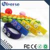 Varas relativas à promoção do USB do estoque do silicone do estilo do bracelete do presente da venda quente