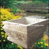 Urna de pedra natural, vaso de jardim, plantador (GS-FL-013)