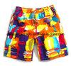 Calças curtas da praia da cor do poliéster do verão dos homens