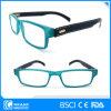 De Plastic Glazen van uitstekende kwaliteit van de Lezing met de Manier Eyewear van de Tempels van het Leer