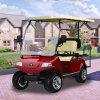 別荘のコテッジの自動ゴルフ車の電気カート