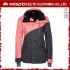 女の子(ELTSNBJI-51)のためのピンクおよび灰色の方法冬のスキージャケット