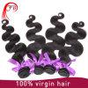自然なカラー倍のWeft人間の毛髪の拡張ボディ波