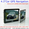 Billig 4.3  Portable Sat Nav Navigation Device Car Moto Truck GPS Navigator mit ISDB-T Fernsehapparat Bluetooth Handels-in für Rear View Parking Camera, Speed Camera