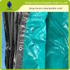 Poly bâche de protection en plastique imperméable à l'eau de bâche de protection de feuille bâche de protection verte/argentée de gaze