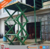 Diseño de fábrica china de elevación de carga para elevar la plataforma de tijera de almacén