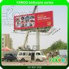Coluna ao ar livre lateral dobro construção de aço galvanizada que anuncia o quadro de avisos do indicador