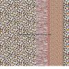 Zeile Pigment&Disperse des Leopard-100%Polyester druckte Gewebe für Bettwäsche-Set