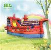 El rojo púrpura lujoso Barco Pirata inflable con tobogán para niños