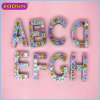 공장 Wholesale Gemstone Jewelry Alphabet a-Z Letter Charm