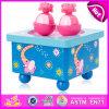 Navidad giratorio de madera Caja de música para niños, el Festival de Música de regalo de alta calidad de los movimientos de juguete W07b030