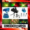 Luz roja clara/verde de la mini etapa del laser de la Navidad de DJ de la Navidad