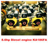 SpitzenSelling New Product Single Cylinder Air Cooled 186F Marine Diesel Engine mit Gearboxes (KA186F)