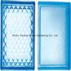 Mattone colorato blu del blocco di vetro