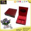 Rectángulo de almacenaje de cuero rojo hermoso de la joyería (3482)