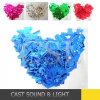 Bunter dekorativer Confetti in den verschiedenen Formen für Hochzeits-Dekoration