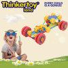 Construction en plastique de voiture de course jouet pour garçon