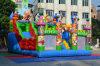 غنيّ بالألوان خارجيّ قابل للنفخ [فونغفو] [بندا] عائق رياضة لعب قصر لأنّ روضة أطفال