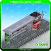 Refugio de autobús de acero inoxidable con caja de luz